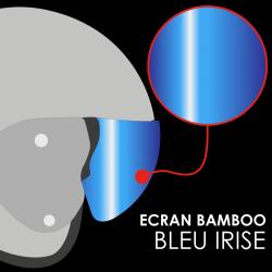 RO12 BAMBOO NATURAL IRIDIUM BLUE VISOR