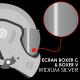 ECRAN RO5 BOXER CLASSIC / V IRIDIUM ARGENT